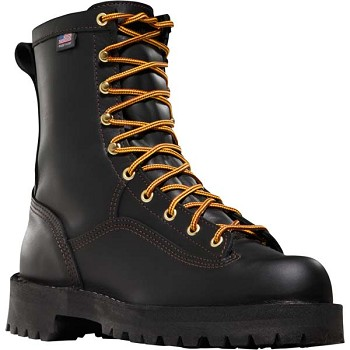 Danner Rain Forest 8-inch Black Insulated Waterproof Work Boots - 15100