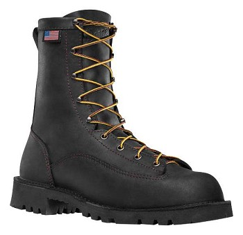 Danner Bull Run 8-inch Black Plain Toe Work Boots - 15546