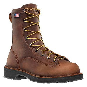 Danner Bull Run 8-inch Brown Steel Toe Work Boots - 15548