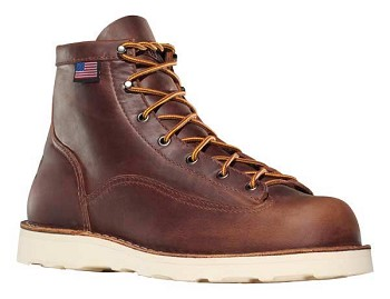 Danner Bull Run 6-inch Brown Vibram Cristy Plain Toe Work Boots - 15552