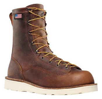 Danner Bull Run 8-inch Brown Vibram Cristy Steel Toe Work Boots - 15558