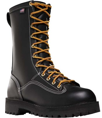 Danner Super Rain Forest 10-inch Black Work Boot