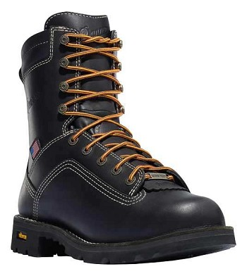 Danner Quarry USA Black 8-inch Waterproof Safety Toe Work Boots - 17311