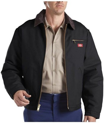 Dickies Black Blanket Lined Duck Jacket - 758-BK