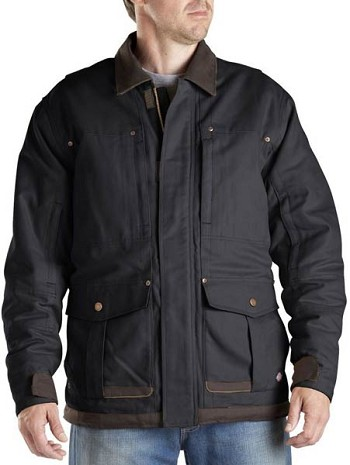 Dickies Black Sanded Duck Winter Coat - TC945-BK