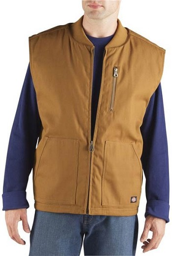 Dickies Brown Rigid Duck Vest - TE418-BD