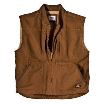 Dickies Brown Sanded Sherpa Lined Work Vest - TE445-BD