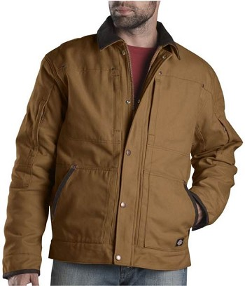 Dickies Brown Sanded Duck Sherpa Lined Winter Coat - TJ545-BD
