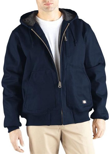 Dickies Navy Rigid Duck Hooded Jacket - TJ718-DN