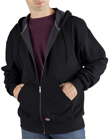 Dickies Black Fleece Thermal Lined Hoodie - TW382-BK