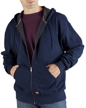 Dickies Dark Navy Fleece Thermal Lined Hoodie - TW382-DN