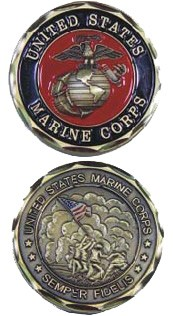 USMC Eagle Globe and Anchor Marine Corps Challenge Coin