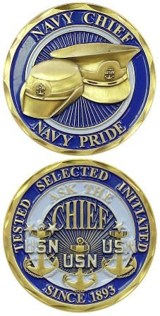 USN Navy Chief Challenge Coin Challenge Coin