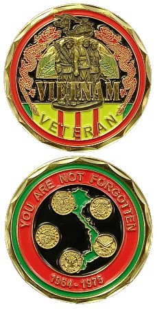 You Are Not Forgotten Vietnam Veteran Challenge Coin