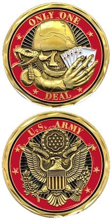 US Army First Strike Deadly Challenge Coin