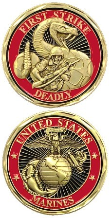 US Marines First Strike Deadly Challenge Coin