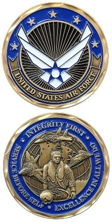 Integrity, Service, Excellence US Air Force Challenge Coin