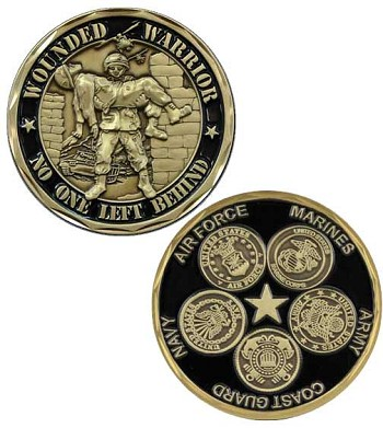 4 Branch Military Wounded Warrior Challenge Coin