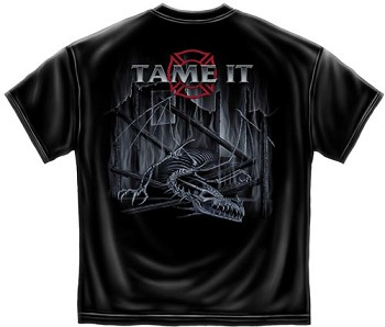 When The Beast Is Raging Tame It Fire Department T-shirt