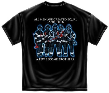 All Men are Created Equal Fallen Firefighter T-shirt - Black