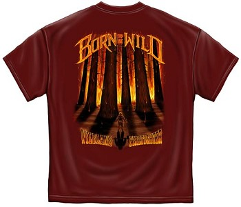 Born To Be Wild Firefighter T-shirt