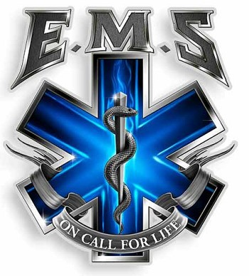 On Call For Life EMS Sticker