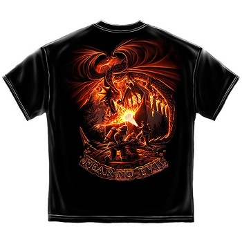 Fear No Evil Dragon Firefighters T-Shirt - Black