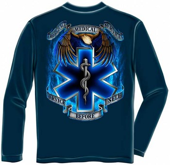 Service Before Self Long Sleeve EMS T-Shirt