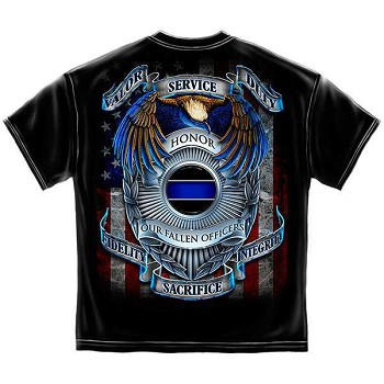 Honor Our Fallen Heros Law Enforcement T-Shirt - Black