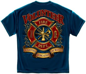 Volunteer Firefighter T-shirt - Navy