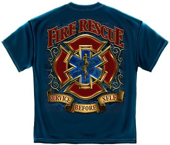 Service Before Self Fire Rescue T-shirt | Firefighter T-Shirt