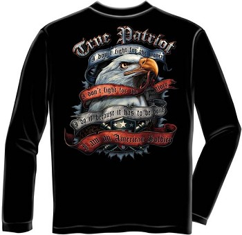 American Soldier True Patriot Long Sleeve T-shirt