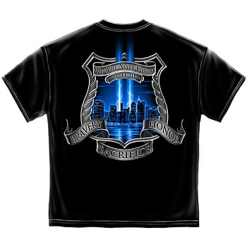 We Will Never Forget Police T-Shirt- Black