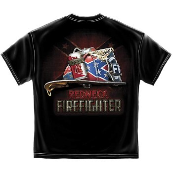 Redneck Firefighter T-Shirt - Black