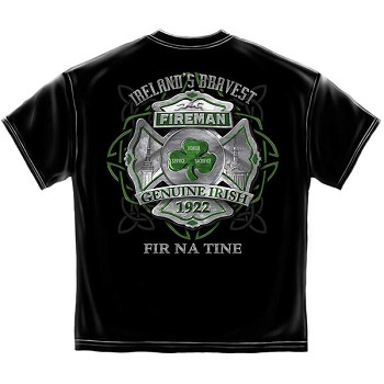 Genuine Irish Fireman T-Shirt - Black