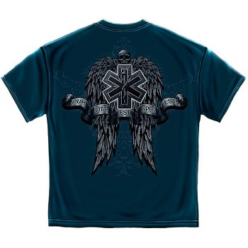 Semper Paratus Skull and Wings EMS T-Shirt - Navy