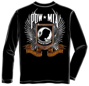 Winged POW-MIA All Gave Some, Some Gave All Long Sleeve T-shirt