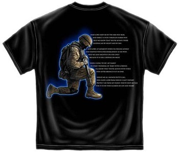 Valor Service Honor Soldiers Prayer T-shirt