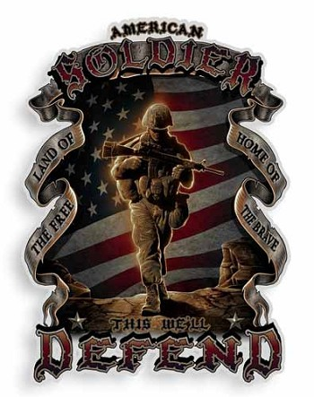This We'll Defend Military Sticker