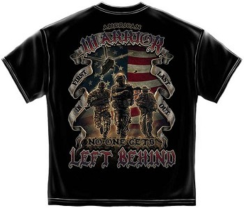 American Warrior No One Left Behind T-Shirt- Black