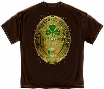 Irish Firefighters Extra Stout Firefighter T-shirt