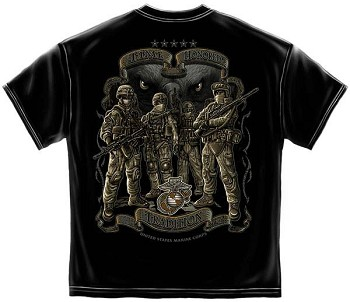 USMC Time Honor Tradition Marines T-Shirt - Black