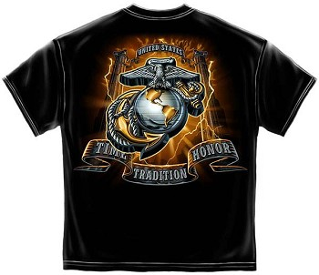 USMC Time Honor Tradition Eagle T-Shirt - Black