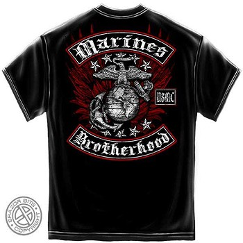 UMSC Brotherhood T-Shirt with Eagle - Black
