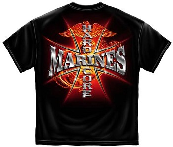 Red Glow Hardcore Marines  T-shirt