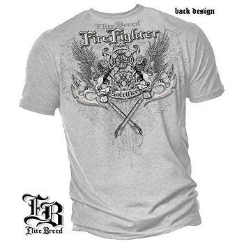 Elite Breed Sacrifice Firefighter T-Shirt - Ice Gray
