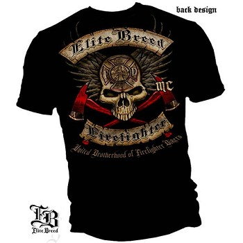 Elite Breed United Brotherhood of Firefighter Bikers T-Shirt
