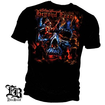 Elite Breed Beyond Fear Skull Firefighter T-Shirt - Black