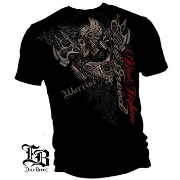 Elite Breed Warrior Firefighter T-Shirt - Black