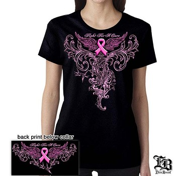 Elite Breed Pink Foil Fight Breast Cancer T-Shirt